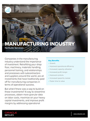 NetSuite Services: Manufacturing