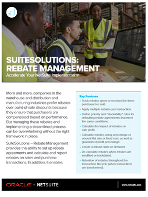 Rebate Management