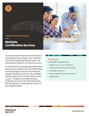 NetSuite Certification